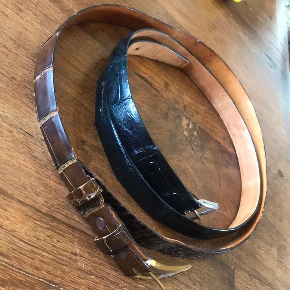 Accessories - Alligator Hide Custom Made Men's Belts - Two